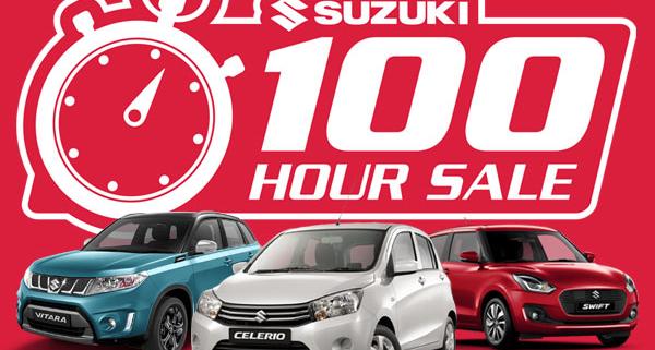 Suzuki 100 Hour Sale Promotion