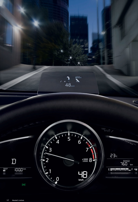 Mazda2 Heads up display