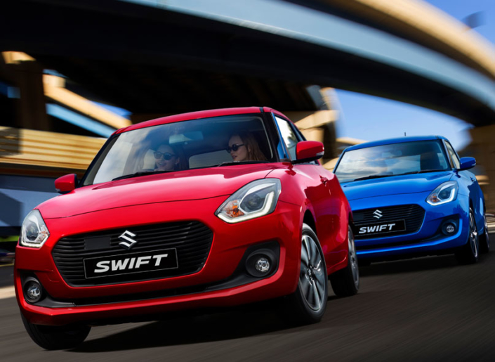 Suzuki Swift Red and Blue