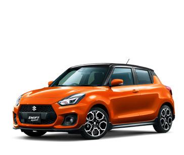 2020 Swift Sport Orange and Black