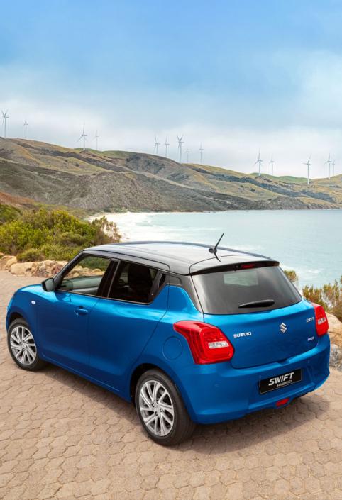 Suzuki Swift Hybrid Blue with black roof